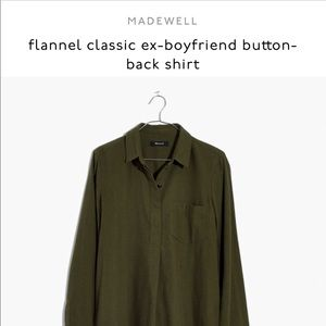 Madewell Ex boyfriend Button Back Flannel Shirt